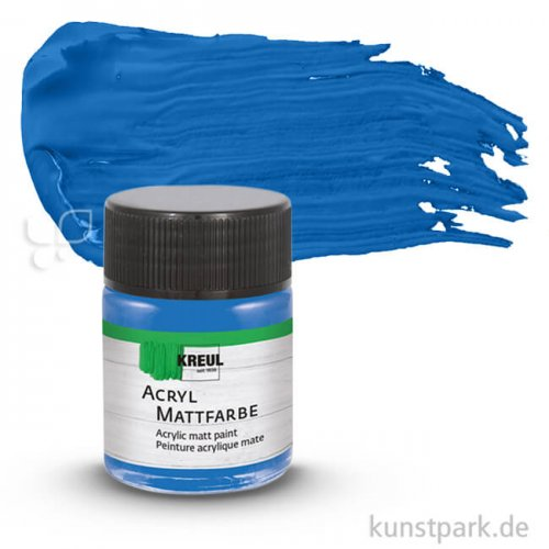 HOBBY LINE Acryl Mattfarbe 50 ml   Enzianblau