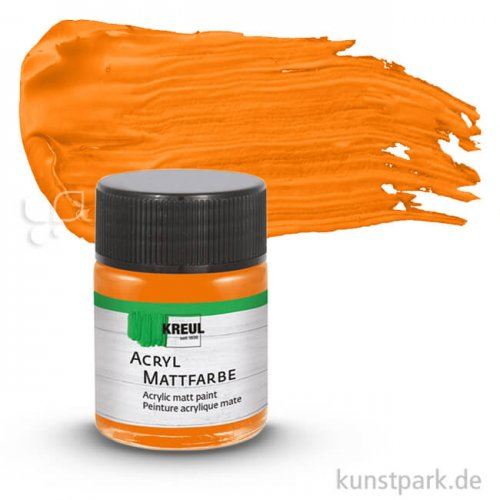HOBBY LINE Acryl Mattfarbe 50 ml   Orange