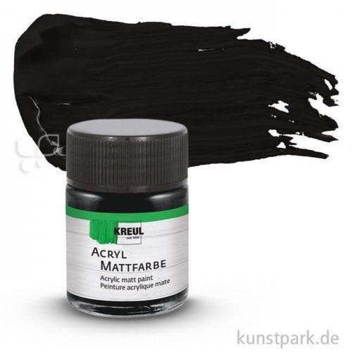 HOBBY LINE Acryl Mattfarbe 50 ml | Schwarz