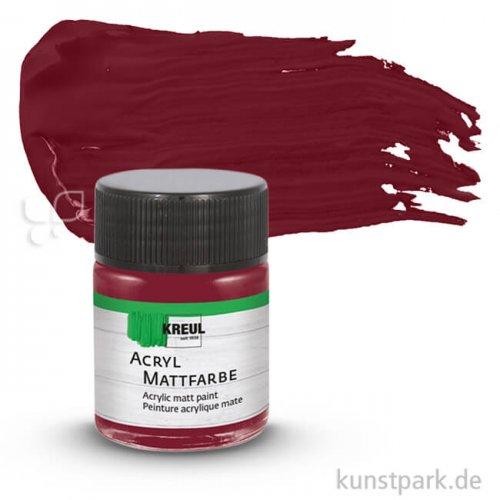 HOBBY LINE Acryl Mattfarbe 50 ml | Weinrot