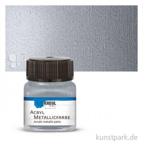 KREUL Acryl Metallicfarbe 20 ml | Silber