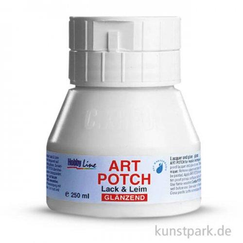 HOBBY LINE Art Potch Lack + Leim - Glänzend 250 ml