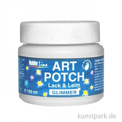 HOBBY LINE Art Potch Lack + Leim - Glimmer, 150 ml