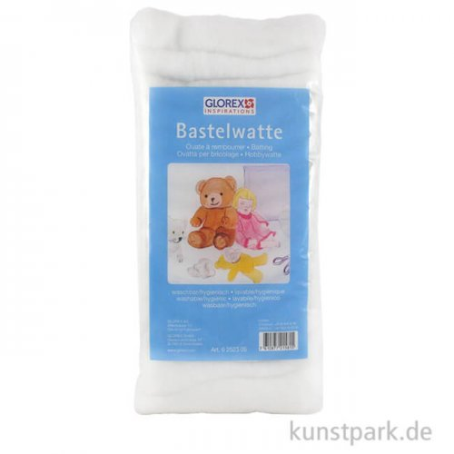 Hobby Time Bastelwatte weiß, 100 % Polyester 1 kg