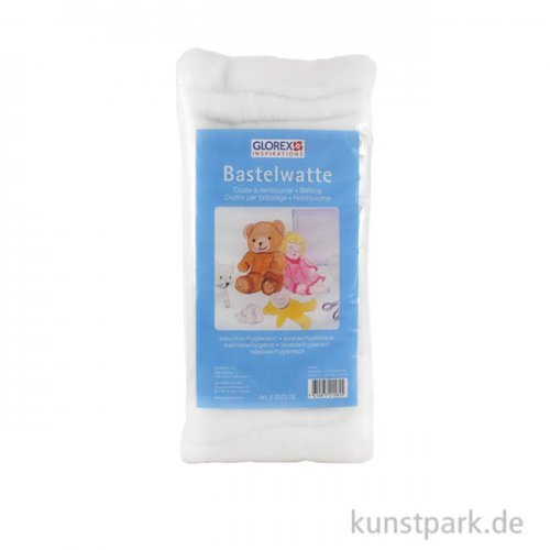 Hobby Time Bastelwatte weiß, 100 % Polyester 250 g