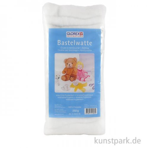 Hobby Time Bastelwatte weiß, 100 % Polyester