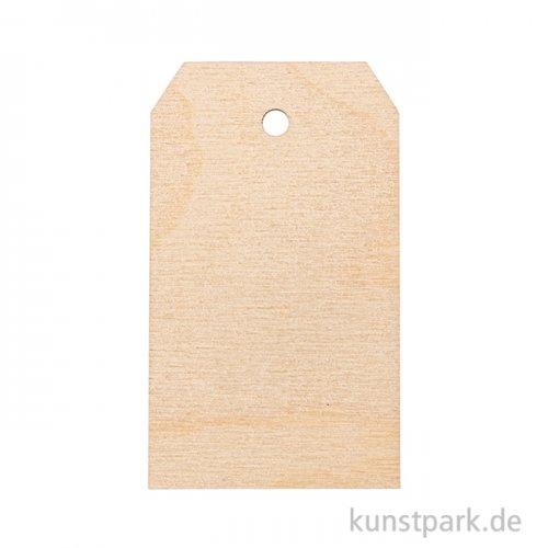 Holz-Anhänger - Blanko 4,7 x 8,2 cm