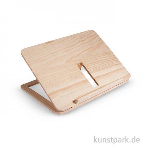 Holz-Buchständer, 28x21x3,4 cm