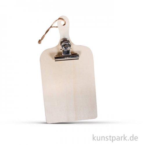 Holz-Klemmbrett Mini, 11,5x23x0,7 cm