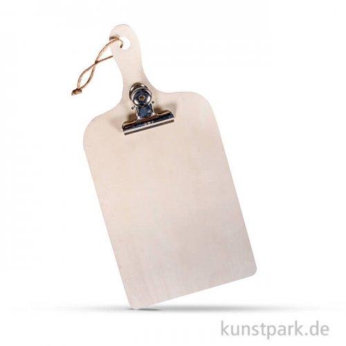 Holz-Klemmbrett Mini, 13,5x28x0,7 cm