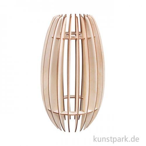 Holz Lamellenlampe - Helsinki, 20 x 20 x 35 cm