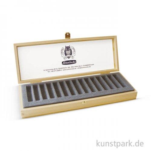 Schmincke Holz-Leerkasten hell - für 15 Pastell-Stifte