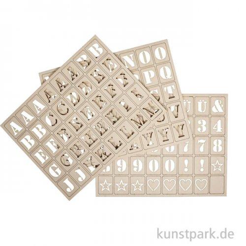 Buchstaben für Holz Letterboard - 120 Stück
