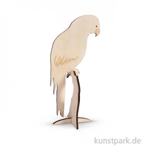 Holz-Papagei zum Stellen, 10x24 cm