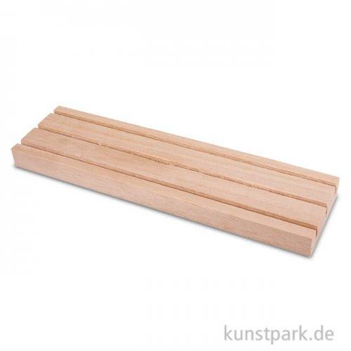 Holz Setzleiste mit 3 Rillen,18x3,5 cm