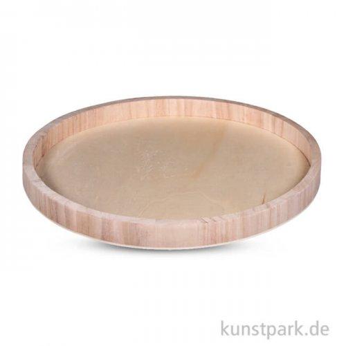 Holz-Tablett rund, 30 cm
