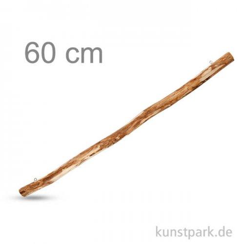 Holzast mit 2 Ösen zum Aufhängen, Länge 60 cm