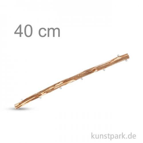 Holzast mit 8 Ösen zum Aufhängen und Befestigen, Länge 40 cm