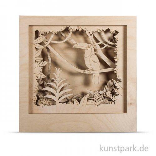 Holzbausatz 3D-Motivrahmen - Tukan