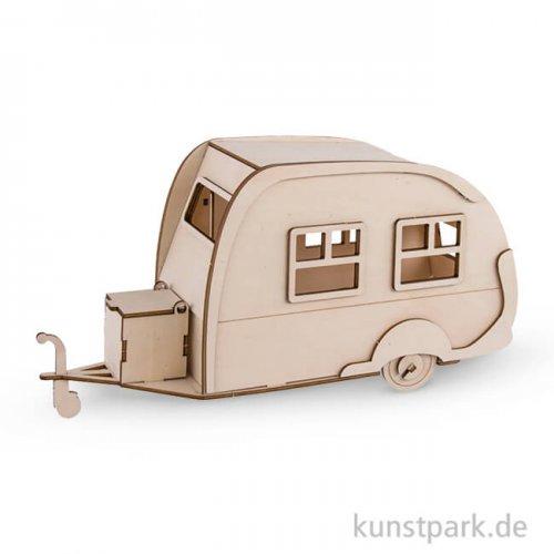 Holzbausatz 3D - Wohnwagen