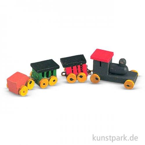 Holzeisenbahn, 8 cm, 4-teilig