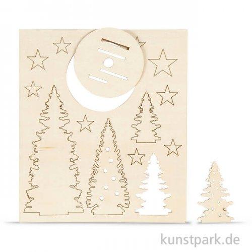 Holzfiguren zum Aufstellen - Weihnachtsbäume, 20x17,5 cm