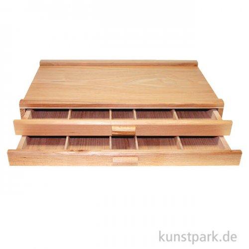 Holzkasten mit 2 Schubladen