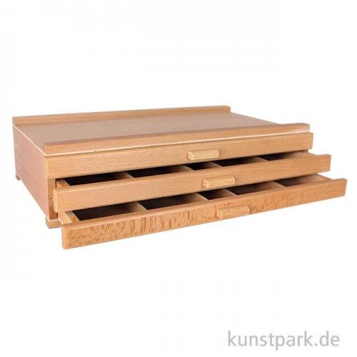 Holzkasten mit 3 Schubladen