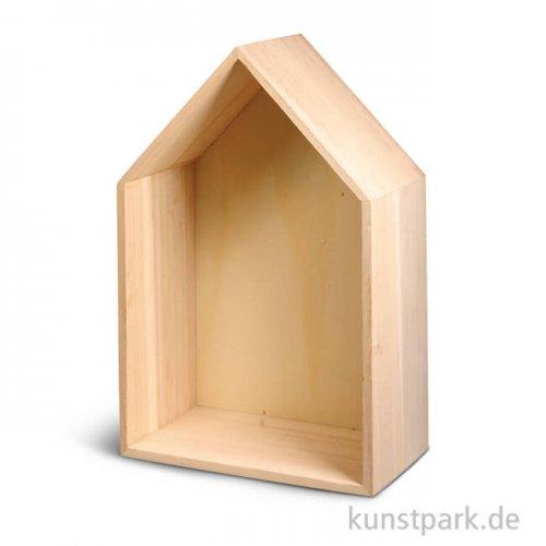 Holzrahmen Haus, 24 x 16 x 8 cm
