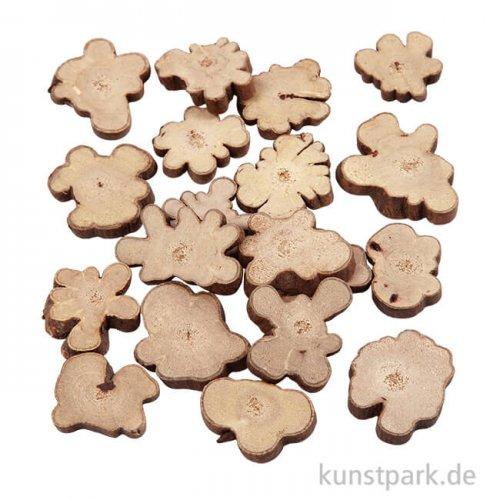 Holzscheiben-Mix, Größe 15-40 mm, 230 g