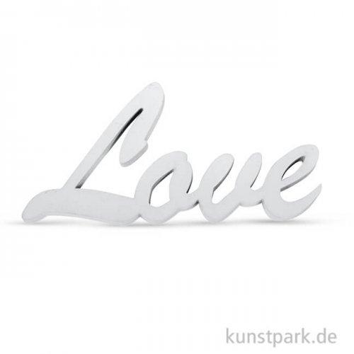 Holzschrift Love - Weiß, 10x4,5x1 cm