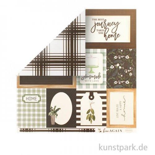 Home Again Scrappapier - Journaling Cards