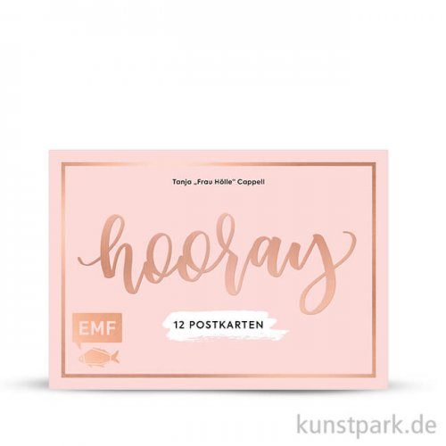 Hooray - 12 Handlettering Postkarten, Edition Fischer