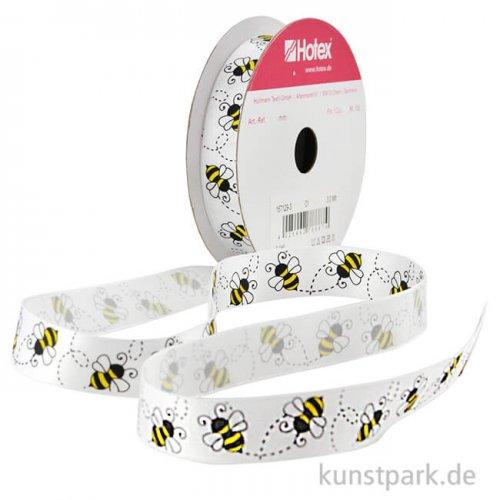 Hotex Satinband - Bienen - 15 mm x 2 m
