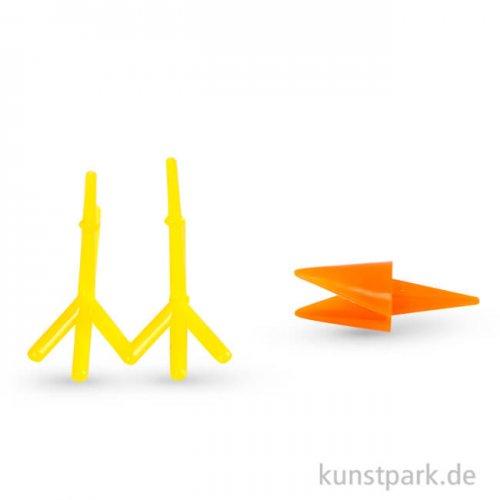 Hühner-Schnabel und Hühner-Füße aus Kunststoff, 8 Sets