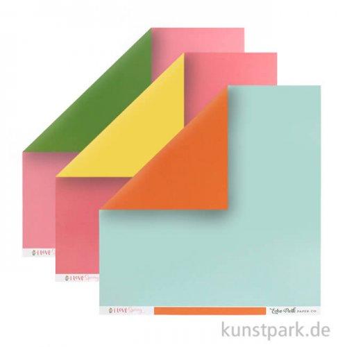 I Love Spring Collection - Solids Kit, 6 Blatt