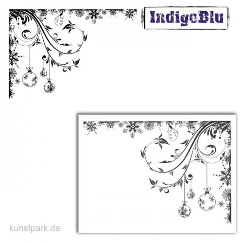 IndigoBlu Stempel - Frosted Baubles - 140x100 mm