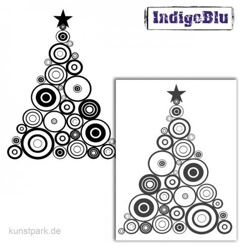 IndigoBlu Stempel - Funky Circles Tree - 125x100 mm