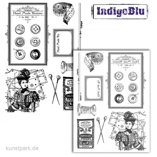 IndigoBlu Stempel - In Stitches - 200x140 mm