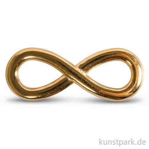 Infinity Metall-Zierelement, 1,1 x 2,9 cm, 1 Stück