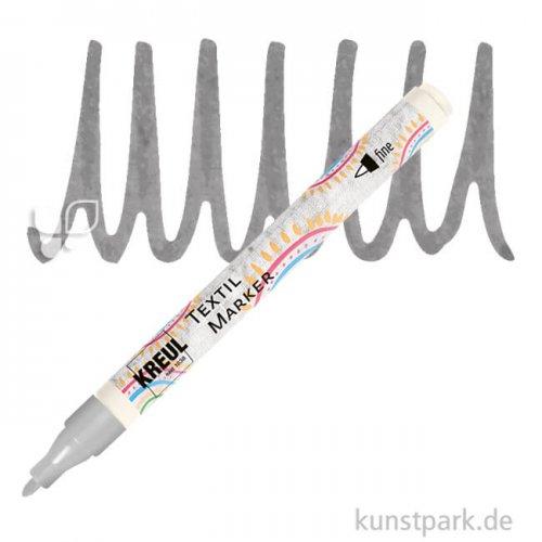 KREUL Textil Marker fine Stift   Grau