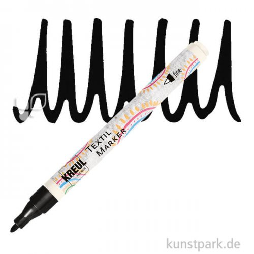KREUL Textil Marker fine Stift | Schwarz