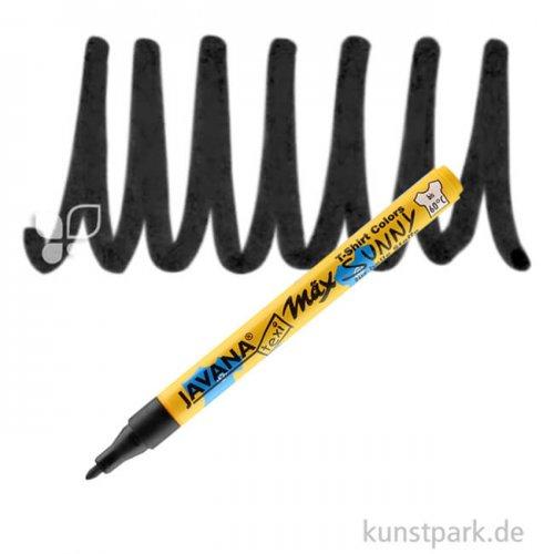 JAVANA Texi Mäx SUNNY fine - Stoffmalstift 1-2 mm Stift | Schwarz