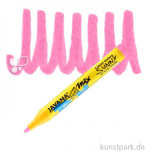 JAVANA Texi Mäx SUNNY - Stoffmalstift 2-4 mm Stift | Neonpink