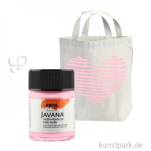 JAVANA Textil FLASH - fluoreszierende Stoffmalfarbe 50 ml | Leuchtrosa