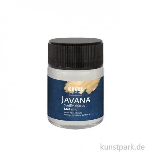 JAVANA Textil METALLIC - Stoffmalfarbe, 50 ml, Silber