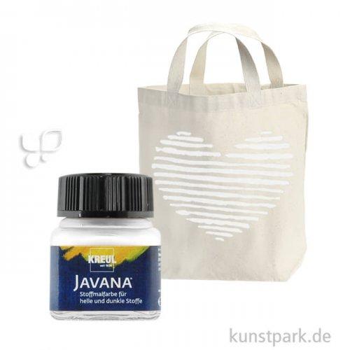 JAVANA Textil OPAK - Stoffmalfarbe für dunkle Stoffe 20 ml | Weiss