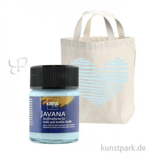 JAVANA Textil OPAK - Stoffmalfarbe für dunkle Stoffe 50 ml | Eisblau