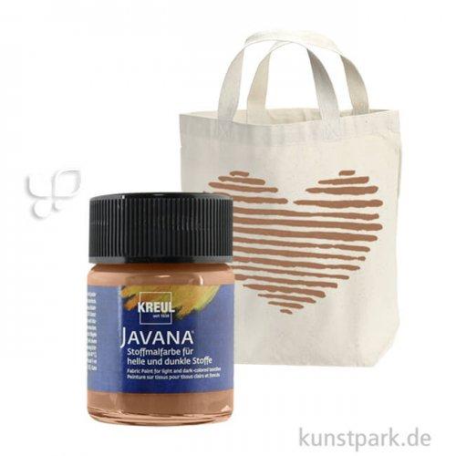 JAVANA Textil OPAK - Stoffmalfarbe für dunkle Stoffe 50 ml | Rehbraun