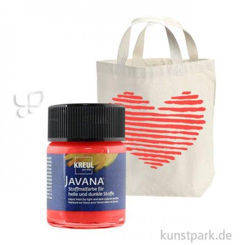 JAVANA Textil OPAK - Stoffmalfarbe für dunkle Stoffe 50 ml   Rot